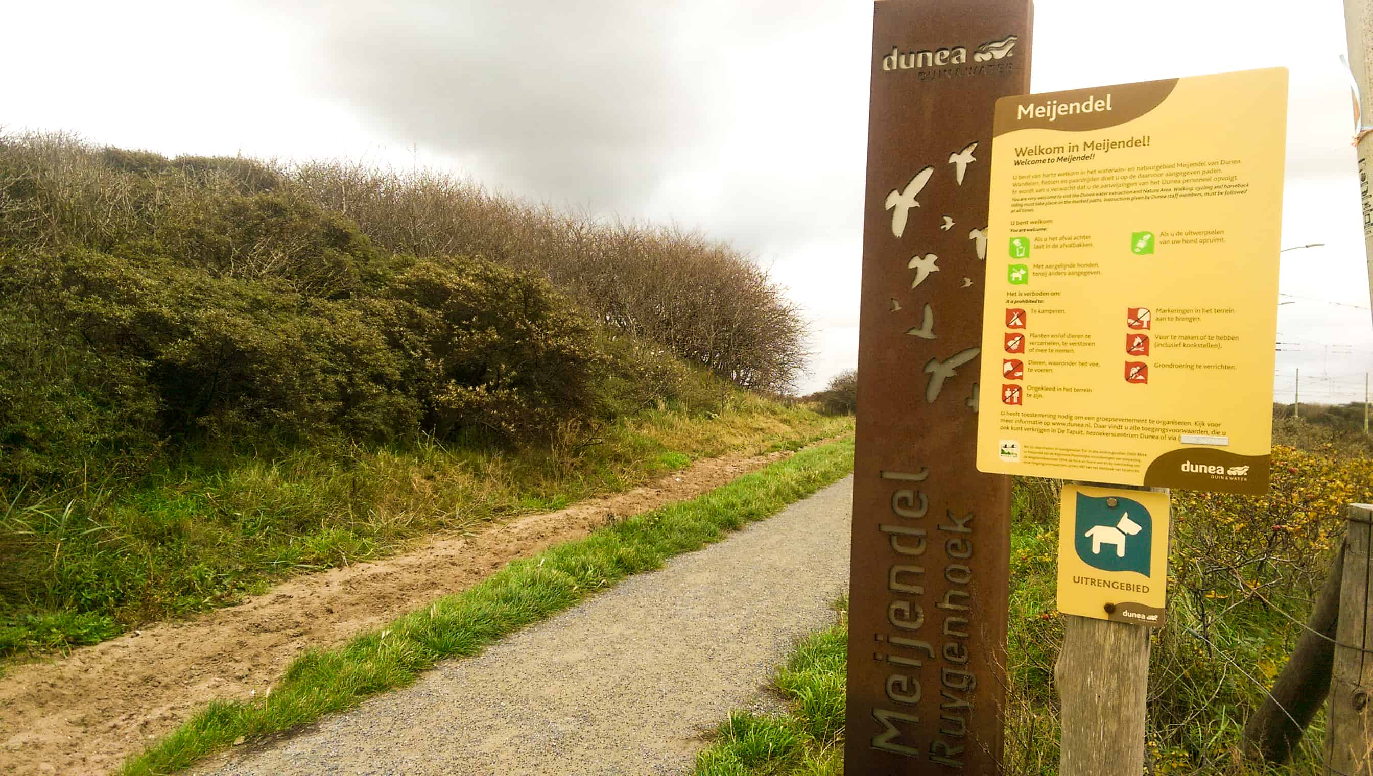 Beginpunt Meijendel route - Happy Hikers