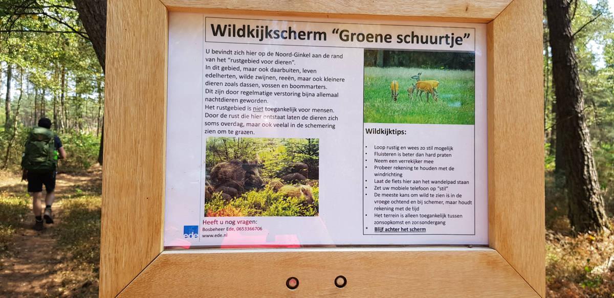 Wildkijkscherm Noord Ginkel - Trekvogelpad - HappyHikers