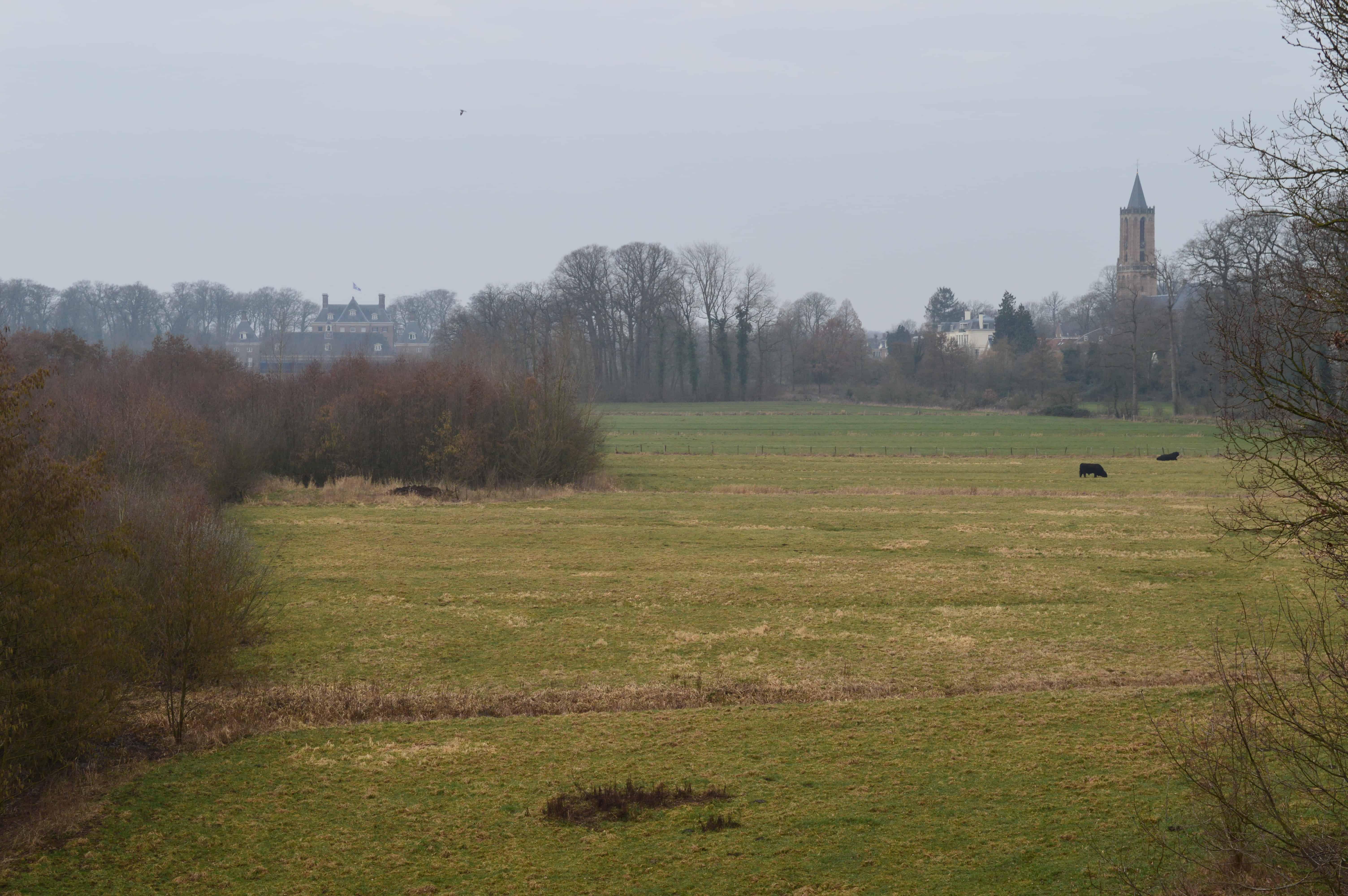 Amerongen in de verte - Van Amerongen naar Rhenen - Trekvogelpad - HappyHikers