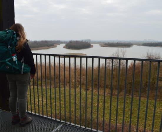 Uitzicht over de blauwe kamer - Van Amerongen naar Rhenen - Trekvogelpad - HappyHikers