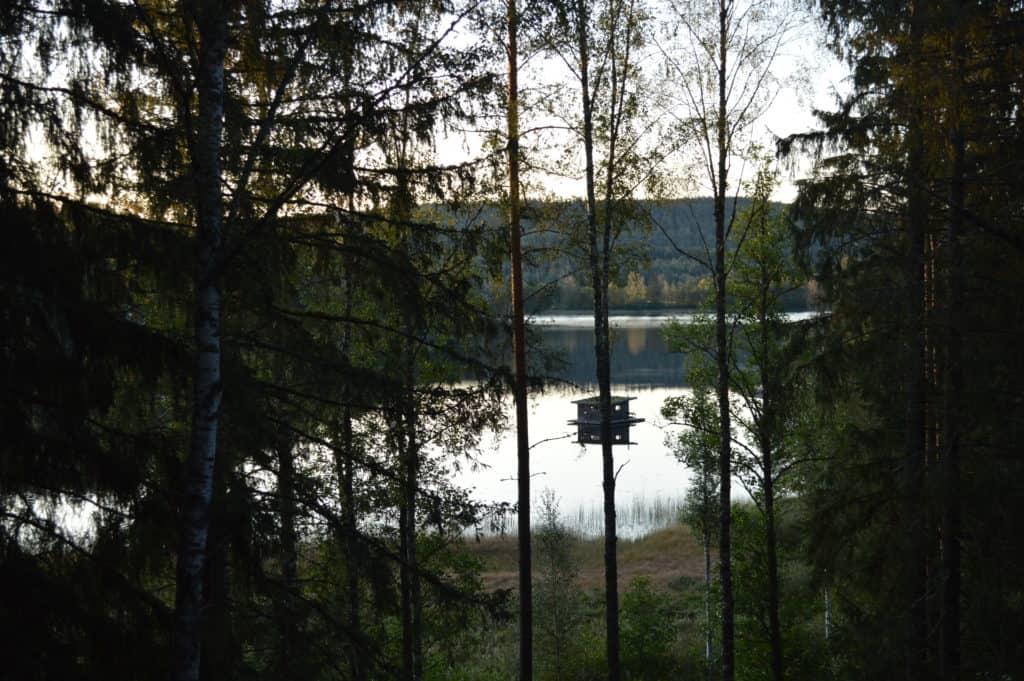 Uitzicht op de boothut - HappyHikers